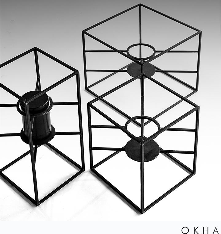 OKHA accessories Lab Series candleholders
