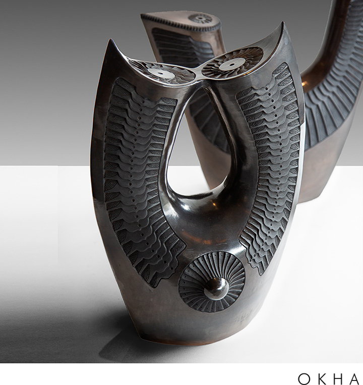 OKHA accessories ceramics Owl & Axe